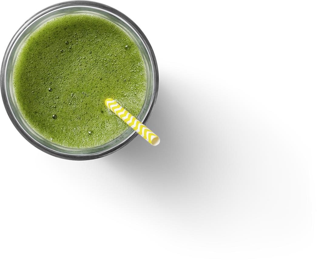 Smoothie Overhead View
